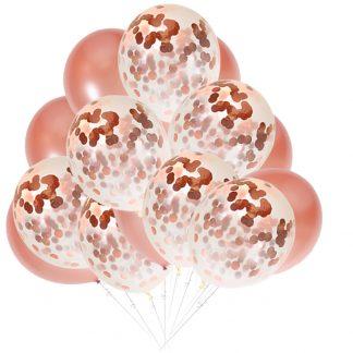 30 броя розово-златни латексови балони