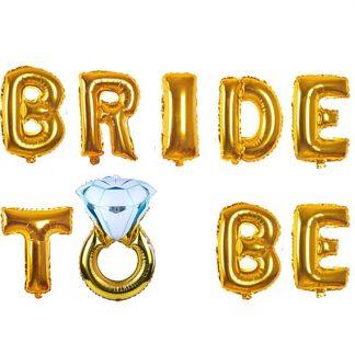 Банер с балони Bride to be - Злато