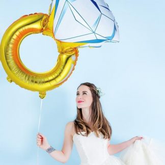 Фолиев пръстен балон за моминско парти сватба и булка
