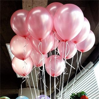 30 броя розови латексови балони
