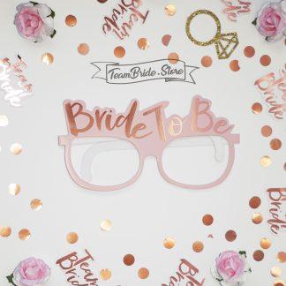 Хартиени очила Bride to be - розови за моминско парти 4