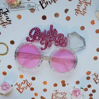 Пластмасови розови очила Bride to be за моминско парти и сватба 3