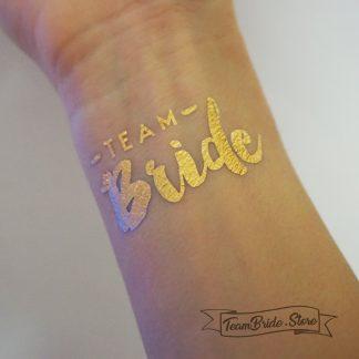 Татуировка Team Bride злато за моминско парти и сватба 2