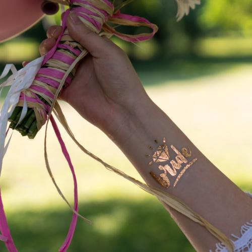 Татуировка за булка моминско парти tattoo bride bachelorette