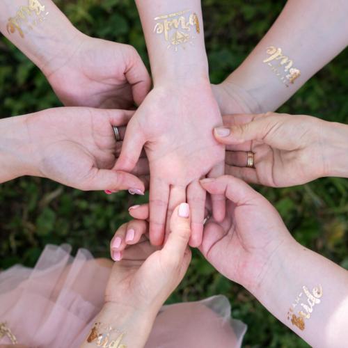 Татуировка за отбора на булката моминско парти tattoo team bride bachelorette